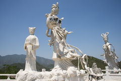 Asia China, Beijing, board mountain scenic area, landscape sculpture, fairy Royalty Free Stock Photography