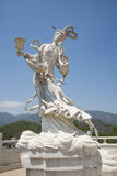 Asia China, Beijing, board mountain scenic area, landscape sculpture, fairy Royalty Free Stock Images