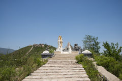 Asia China, Beijing, board mountain scenic area, landscape sculpture, a figure of Mercy Buddha Stock Photography