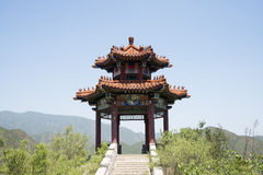 Asia China, Beijing, board mountain scenic area, Pavilion, step, Stock Photos