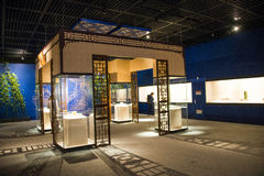 Asia China, Beijing, capital museum, indoor exhibition hall Royalty Free Stock Photography