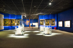 Asia China, Beijing, capital museum, indoor exhibition hall Stock Photography