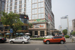 Asia China, Beijing, CBD Central Business District, city block Stock Photography