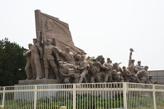 Asia, China, Beijing, Chairman Mao Memorial Hall, sculpture Royalty Free Stock Photos