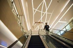Asia China, Beijing, Chang Ying Tian Jie shopping center, escalator Stock Photos