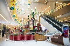 Asia China, Beijing, Chang Ying Tian Jie shopping center, escalator Stock Photography