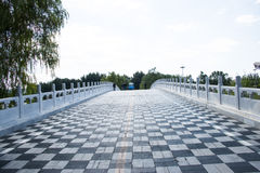 In Asia, China, Beijing, Chaoyang Park, bridge Royalty Free Stock Images