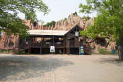 Asia in China, Beijing, Chaoyang Park, Cabin Stock Photography