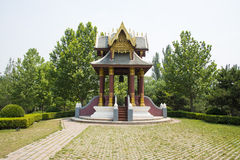 Asia in China, Beijing, Chaoyang Park, China, Thailand, friendship Pavilion Royalty Free Stock Image