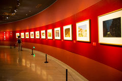 Asia China, Beijing, China Art Museum, indoor exhibition hall, oil painting exhibition Stock Photography