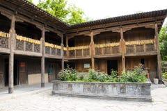 Asia China, Beijing, China Minzu Yuan, landscape architecture, wood floor. Beijing Chinese Min zu Yuan, traditional architecture, China minority ethnic customs stock images