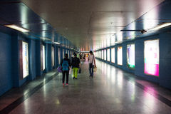 Asia China, Beijing, city, underground passage Stock Image