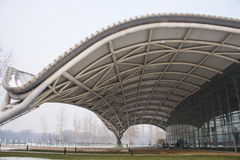 Asia China, Beijing, Civil Aviation Museum, architectural appearance Royalty Free Stock Photos