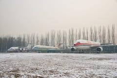 Asia China, Beijing, Civil Aviation Museum,Outdoor exhibition area, aircraft Stock Photos