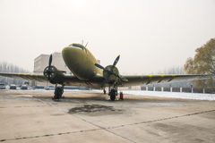 Asia China, Beijing, Civil Aviation Museum,Outdoor exhibition area, aircraft Royalty Free Stock Photo