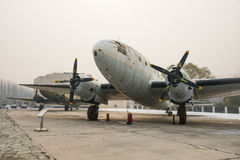 Asia China, Beijing, Civil Aviation Museum,Outdoor exhibition area, aircraft Royalty Free Stock Photography
