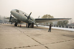 Asia China, Beijing, Civil Aviation Museum,Outdoor exhibition area, aircraft Stock Photo