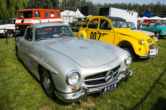 Asia China, Beijing, Classic car show,Benz 300sl Cars. Asia China, Beijing, Olympic Forest Park,  2016Classic car show,Outdoor exhibition area Royalty Free Stock Images