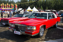 Asia China, Beijing, Classic car show,Cadillac  BROUGHAM  car Royalty Free Stock Photo