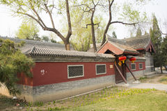 Asia China, Beijing, Dadu Ruins Park, architecture and landscape,Antique buildings Royalty Free Stock Photography