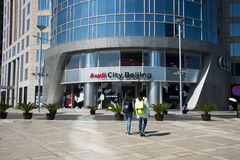 Asia and China, Beijing, Dongdan, the Oriental Plaza, Audi city Beijing Stock Photos