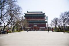 Asia China, Beijing, Drum Tower Royalty Free Stock Photos