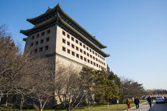 Asia China, Beijing, The dynasty of Ming wall ruins park, turrets Stock Image