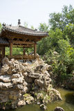 Asia China, Beijing, elm village, park, garden architecture,Pavilion, Gallery Stock Photography