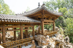Asia China, Beijing, elm village, park, garden architecture,Pavilion, Gallery Royalty Free Stock Photos