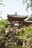 Asia China, Beijing, elm village, park, garden architecture,Pavilion, Gallery Stock Photos