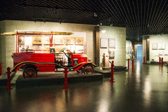 Asia China, Beijing, Fire Museum, indoor exhibition hall. China and Asia, Beijing, Fire Museum, exhibition room, lobby, exhibition hall of ancient, modern Stock Image