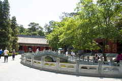Asia China, Beijing, Fragrant Hill Park, classical garden architecture Royalty Free Stock Image
