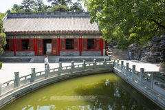 Asia China, Beijing, Fragrant Hill Park, classical garden architecture Stock Images
