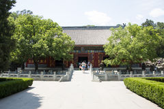 Asia China, Beijing, Fragrant Hill Park, classical garden architecture Stock Photo