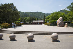 Asia China, Beijing, Fragrant Hill Park, classical garden architecture Stock Photography