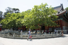 Asia China, Beijing, Fragrant Hill Park, classical garden architecture Stock Image