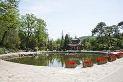 Asia China, Beijing, Fragrant Hill Park, Glasses lake, jia ri Pavilion Stock Image