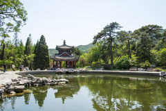 Asia China, Beijing, Fragrant Hill Park,Lakeview, Pavilion Royalty Free Stock Photos
