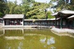 Asia China, Beijing, Fragrant Hill Park,Pavilion, Gallery Royalty Free Stock Photos