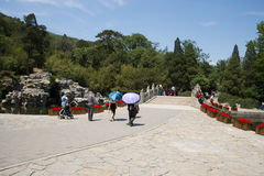 Asia China, Beijing, Fragrant Hill Park, Stone arch bridge Royalty Free Stock Photos