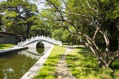 Asia China, Beijing, Fragrant Hill Park,Zhao Temple, stone bridge Royalty Free Stock Photo