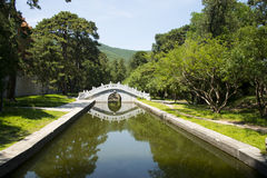 Asia China, Beijing, Fragrant Hill Park,Zhao Temple, stone bridge Royalty Free Stock Image