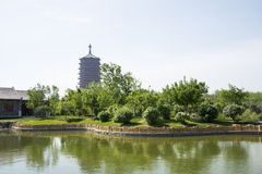 Asia China, Beijing, Garden Expo, antique buildings,Yongding tower Stock Photography