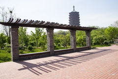 Asia China, Beijing, Garden Expo, antique buildings,Yongding tower Stock Image