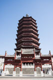 Asia China, Beijing, Garden Expo, antique buildings,Yongding tower Royalty Free Stock Photos