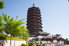 Asia China, Beijing, Garden Expo, antique buildings,Yongding tower Royalty Free Stock Photo