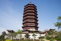 Asia China, Beijing, Garden Expo, antique buildings,Yongding tower Royalty Free Stock Images
