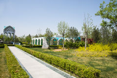 Asia China, Beijing, Garden Expo, Architecture and landscape, Royalty Free Stock Photo