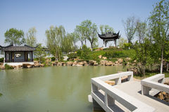 Asia China, Beijing, Garden Expo, Architecture and landscape,Jiangnan garden Stock Image