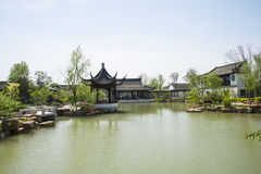 Asia China, Beijing, Garden Expo, Architecture and landscape,Jiangnan garden Stock Photography